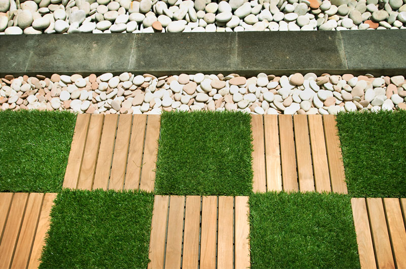 Tiles for garden floor