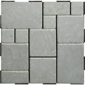 DIY click garden tile patchwork white