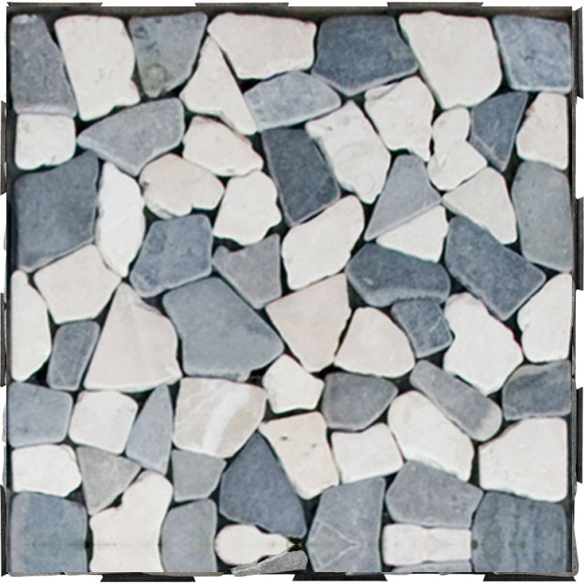 DIY Click Garden Tile Destination Green - Mosaic Stone Mix Grey and White