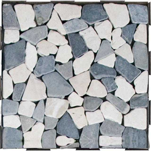 DIY Click Garden Tile Destination Green - Mosaic Stone Mix Grey and White