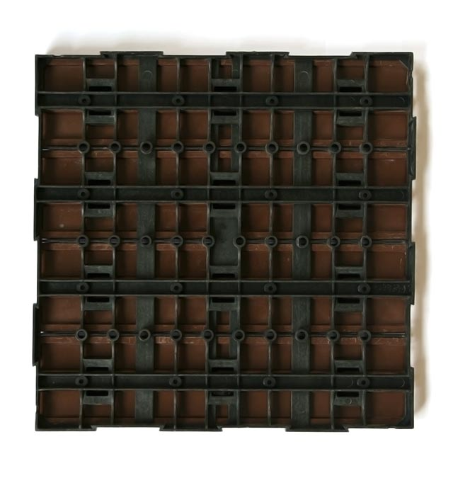 Interlocking Garden Tile Base Wood Plastic Composite Indonesia
