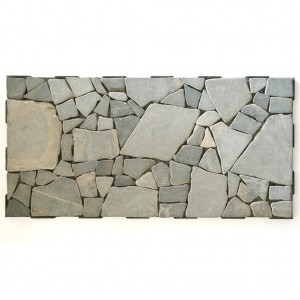 Light Large Stone Mosaic 60x30 Garden Tile from the side