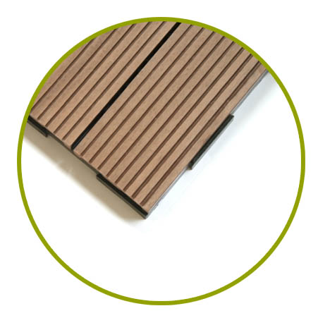 Interlocking Garden Tile System for Pool and Terrace