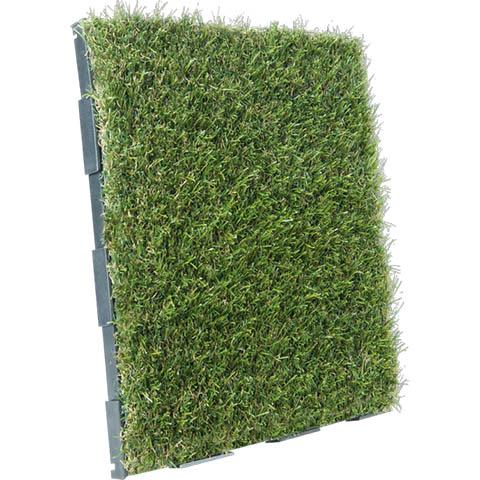 Destination Green Interlocking Garden Tile Grass