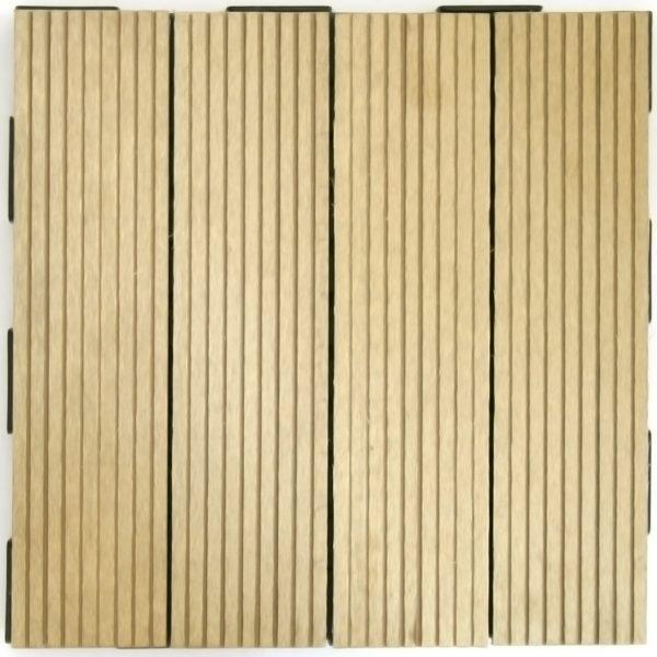 Beige WPC 30x30 Garden Tile