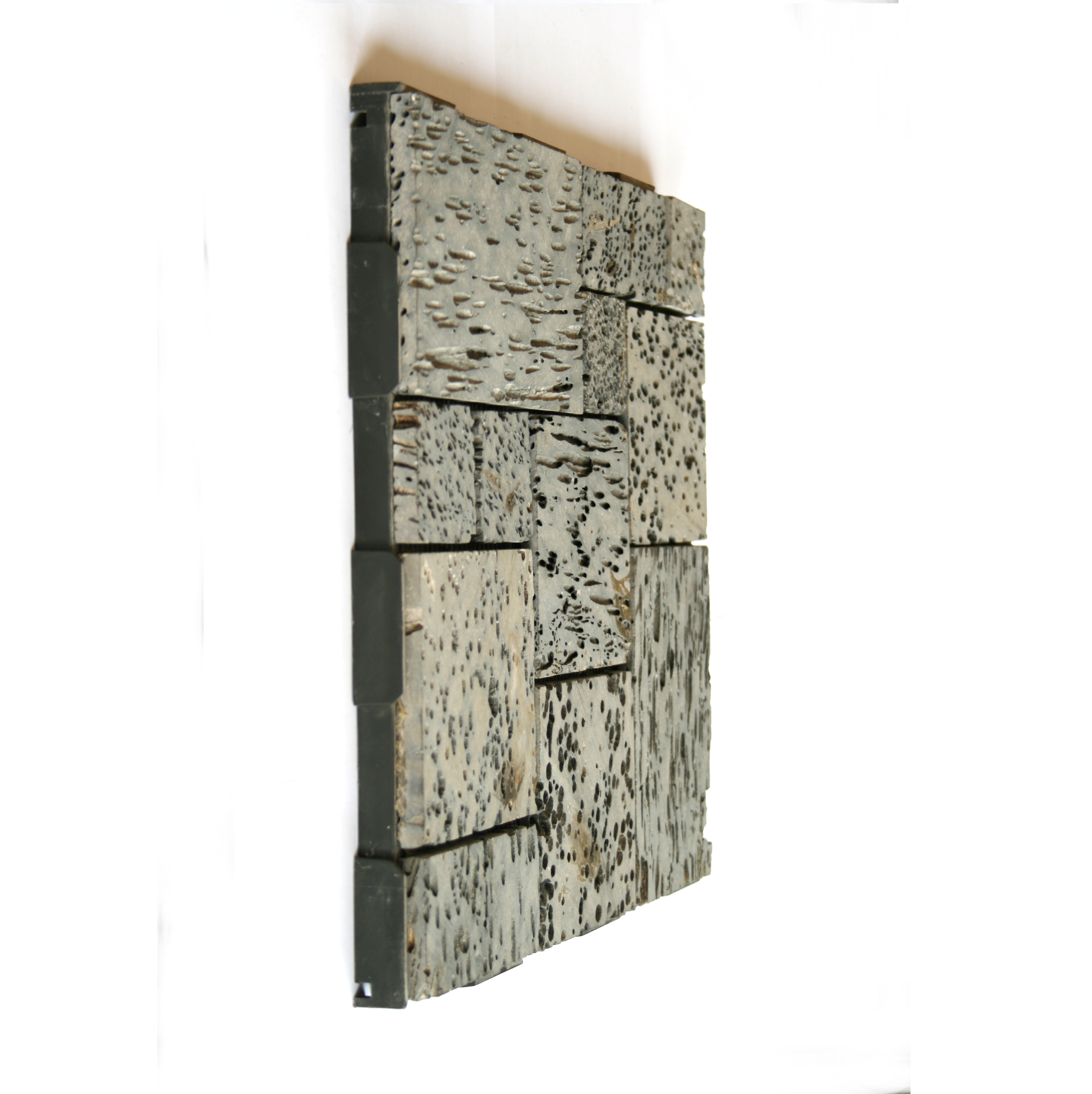 Lava Stone Patchwork 30x30 Garden Tile from the side